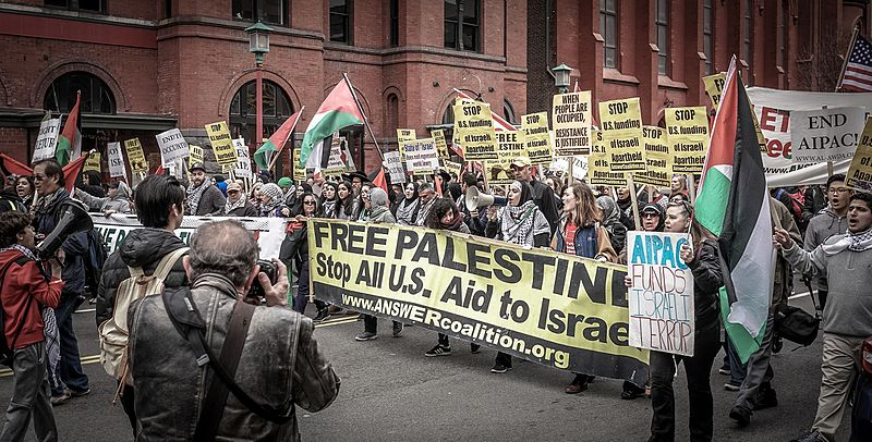 anti-Israel march. Credit: Ted Eitan